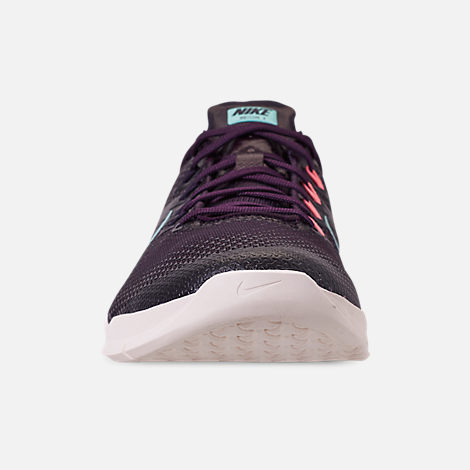 Front view of Women s Nike Metcon 4 Training Shoes in Burgundy Ash Aurora  Green  5905bc5bb