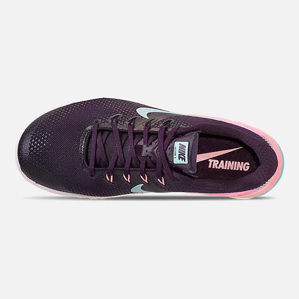 Top view of Women s Nike Metcon 4 Training Shoes in Burgundy Ash Aurora  Green  05a01fbda