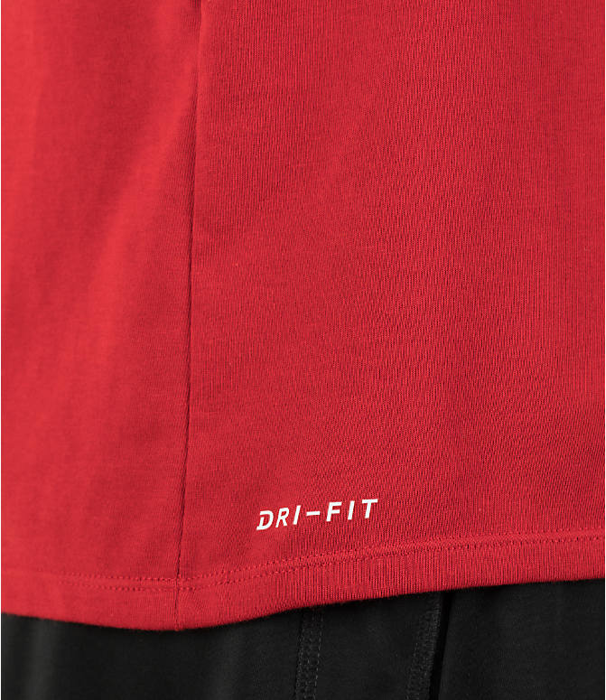 Detail 2 view of Men's Air Jordan Dry 23/7 Basketball T-Shirt in Gym Red