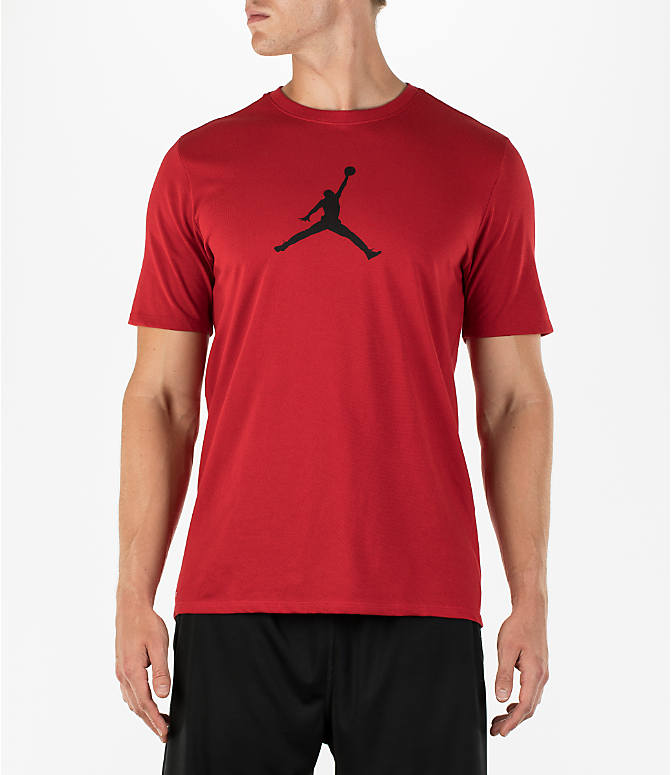 Front view of Men's Air Jordan Dry 23/7 Basketball T-Shirt in Gym Red