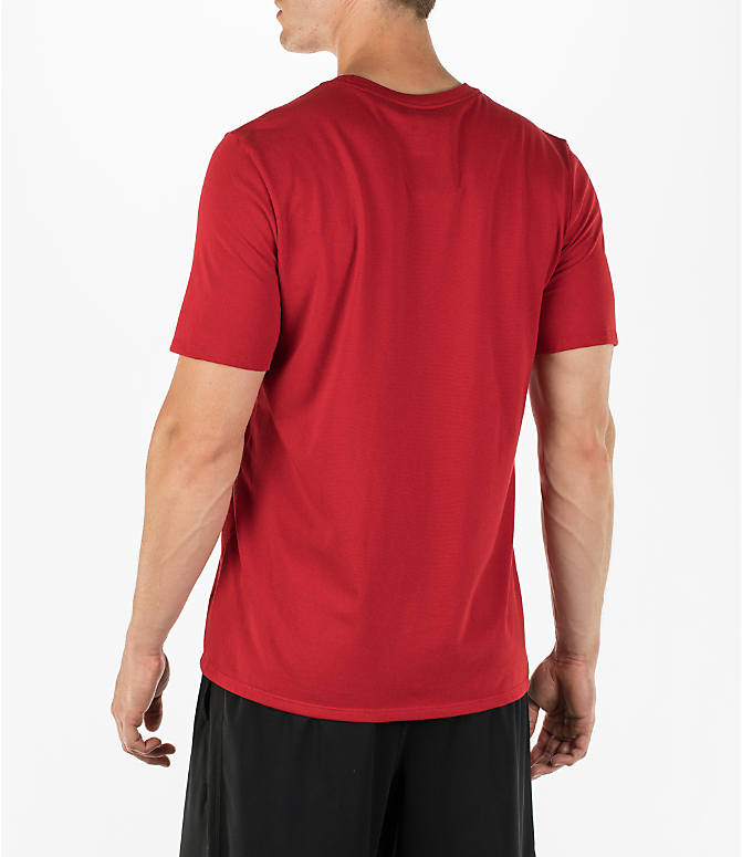 Back Left view of Men's Air Jordan Dry 23/7 Basketball T-Shirt in Gym Red