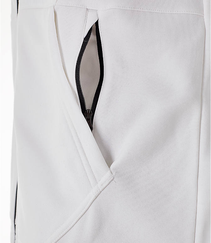 Detail 1 view of Men's Nike Therma Basketball Full-Zip Hoodie in White/Black
