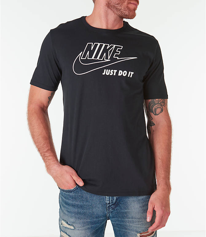 Front view of Men's Nike Sportswear HBR JDI T-Shirt in Black