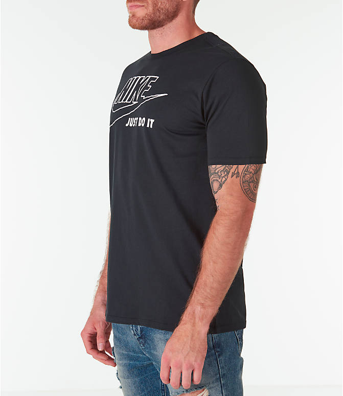 Front Three Quarter view of Men's Nike Sportswear HBR JDI T-Shirt in Black