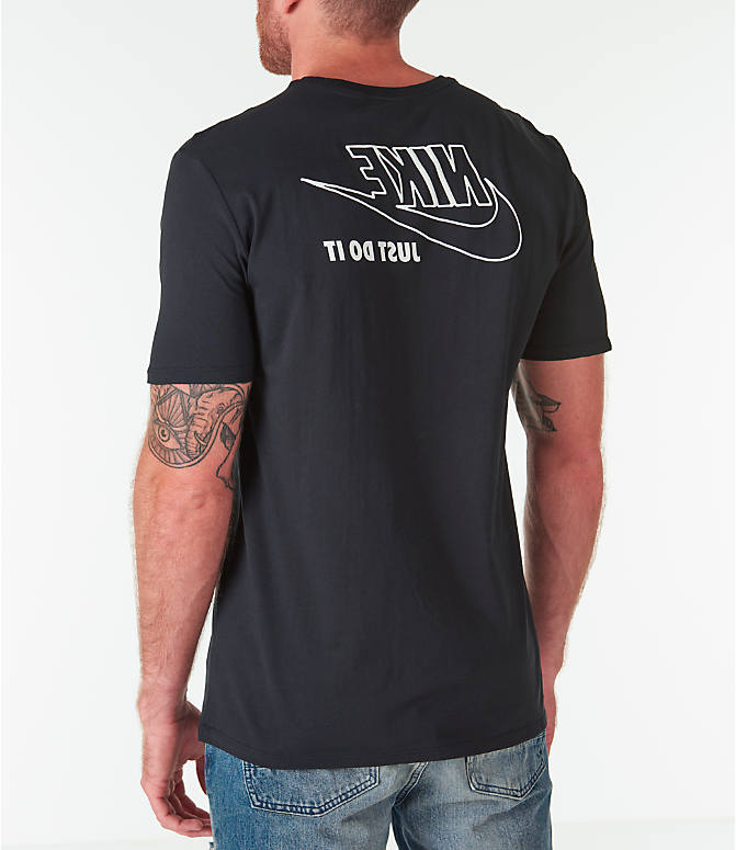Back Left view of Men's Nike Sportswear HBR JDI T-Shirt in Black