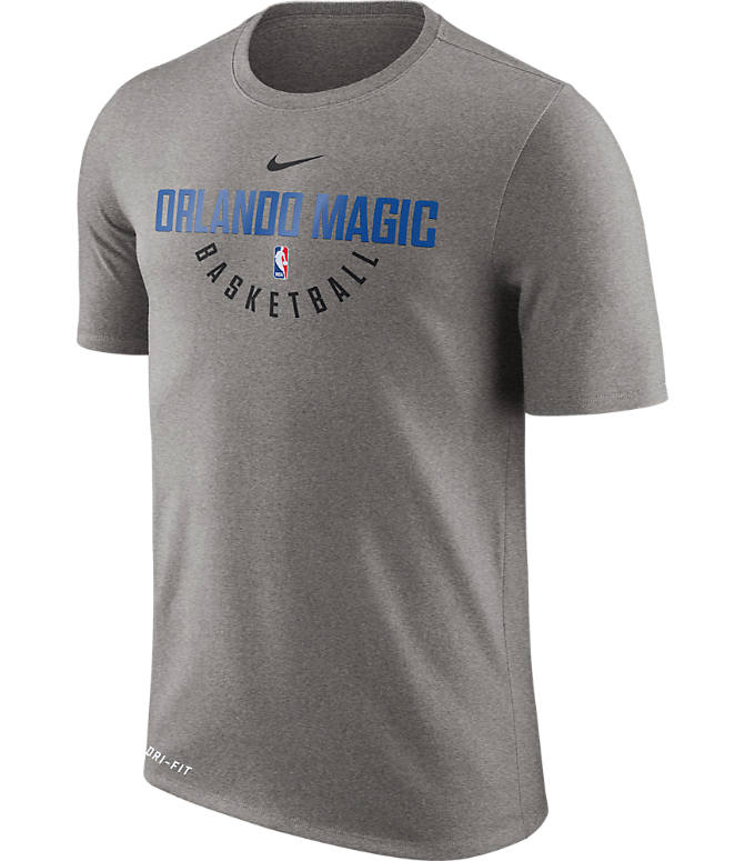 Front view of Men's Nike Orlando Magic NBA Dry Practice T-Shirt in Dark Grey Heather