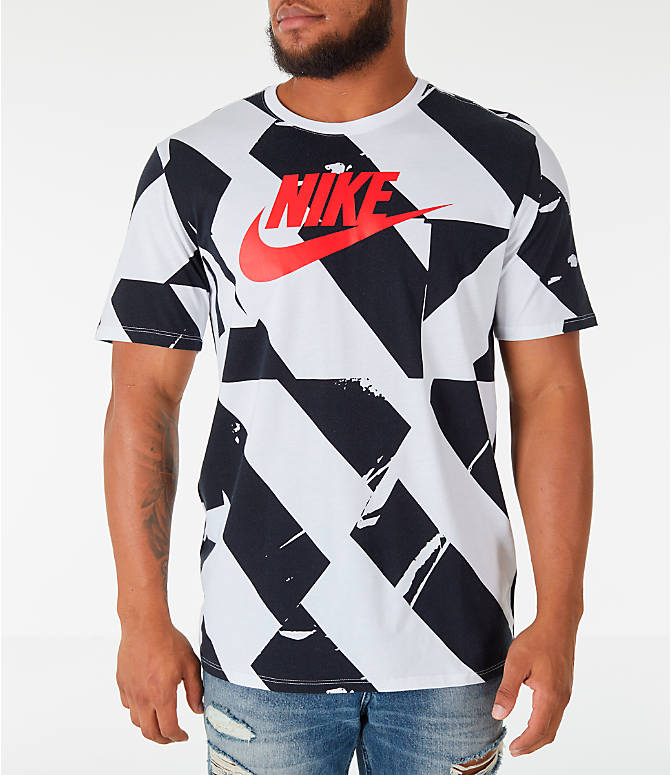 Front view of Men's Nike Sportswear FTW T-Shirt in White/Black