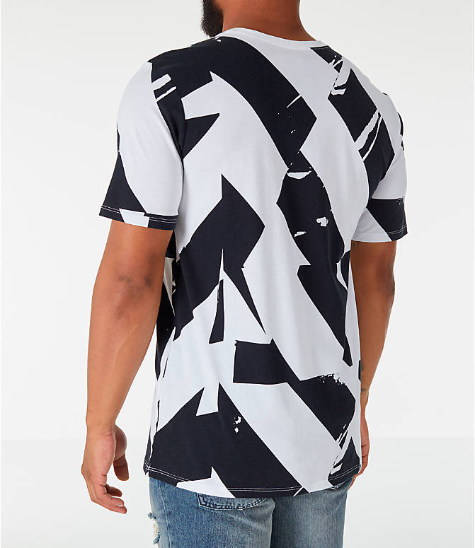 Back Left view of Men's Nike Sportswear FTW T-Shirt in White/Black