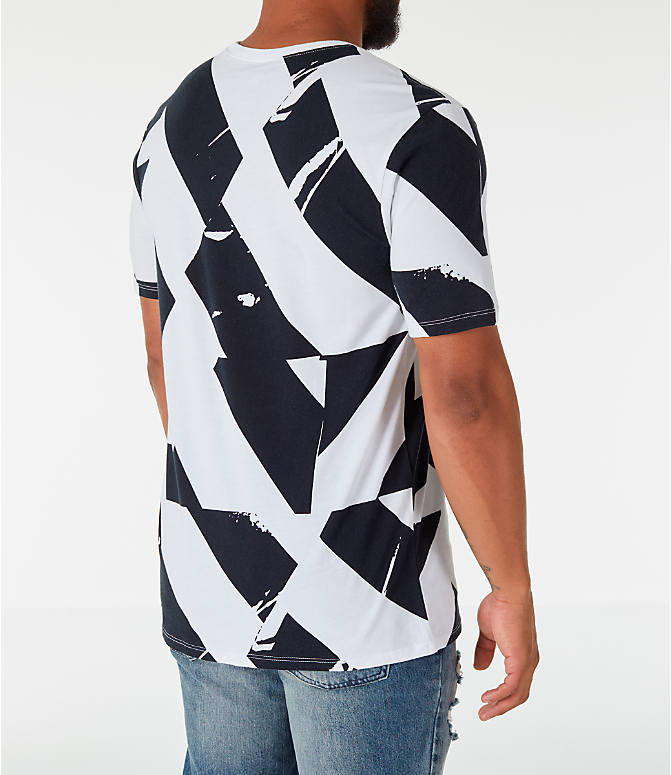 Back Right view of Men's Nike Sportswear FTW T-Shirt in White/Black
