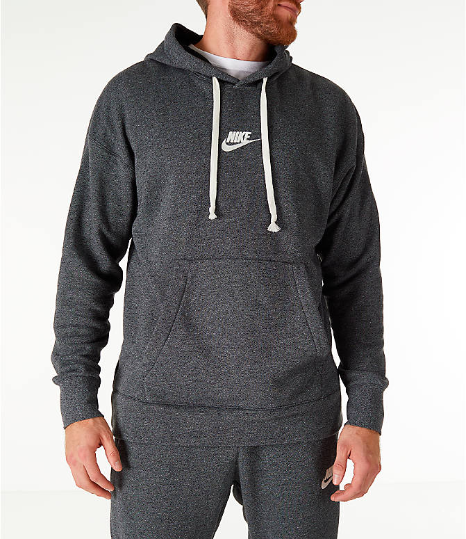 Front view of Men's Nike Sportswear Heritage Club Pullover Hoodie