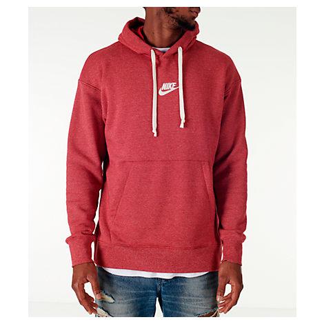 Shop Nike Men S Sportswear Heritage Club Pullover Hoodie b53f66af89b5