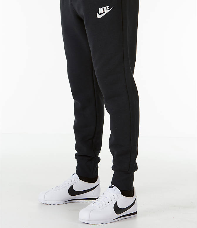 Detail 1 view of Men's Nike Sportswear Heritage Club Cuffed Jogger Pants in Black