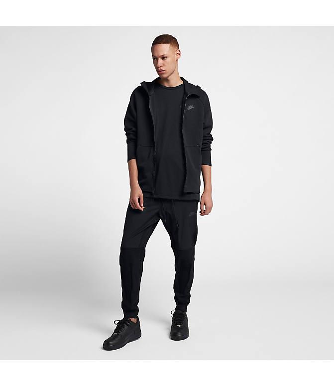 4f13f9b60 Front Three Quarter view of Men's Nike Sportswear Tech Fleece Full-Zip  Hoodie in Black