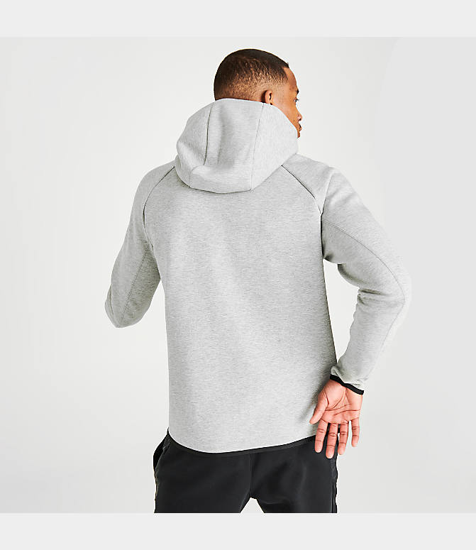 Details about Nike Tech Fleece Men's Zip Up Hoodie Large Heather Gray Black Sportswear