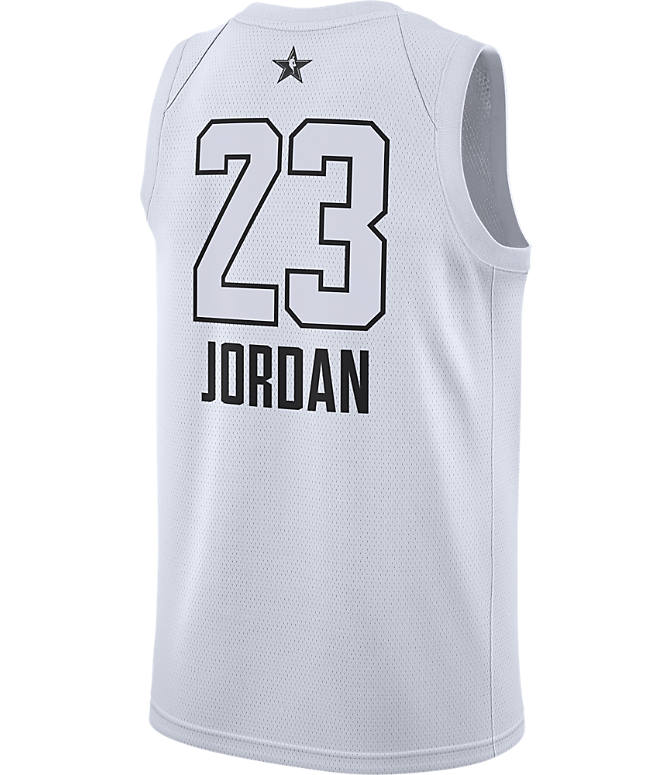 Front view of Men's Air Jordan NBA Michael Jordan All-Star Edition Connected Jersey in White