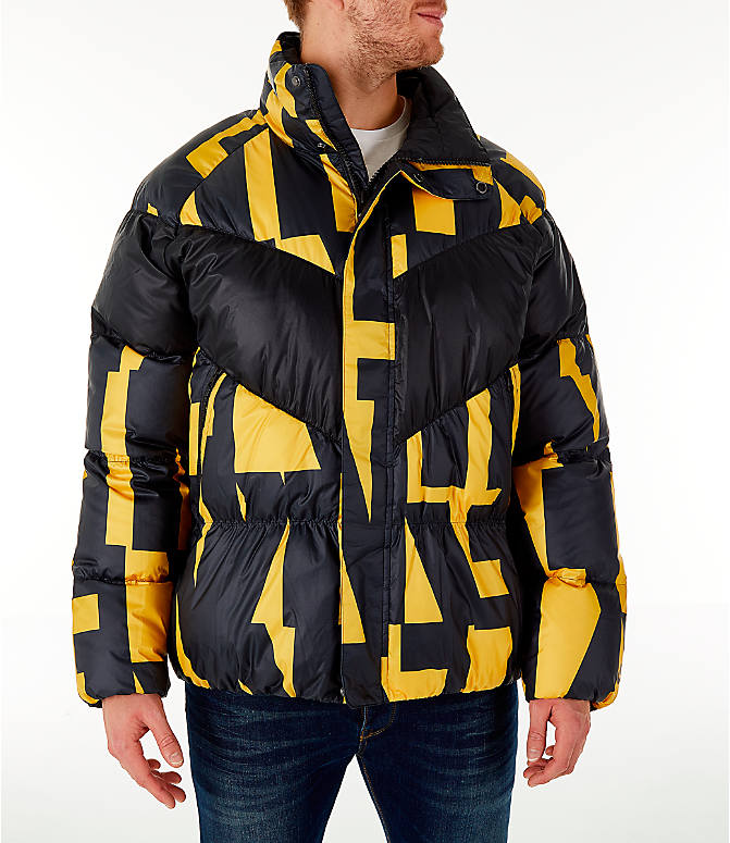 006ff31eba4a Front view of Men s Nike Sportswear Down Filled Jacket in Yellow Black