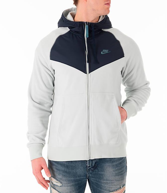07e490bf6dc6 Front view of Men s Nike Sportswear Winterized Full-Zip Jacket in Light  Silver Obsidian
