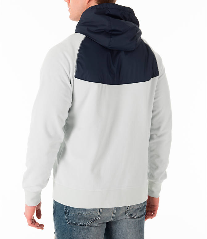 Back Left view of Men's Nike Sportswear Winterized Full-Zip Jacket in Light Silver/Obsidian