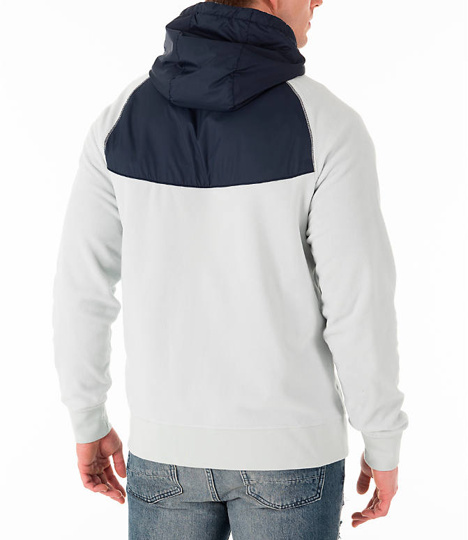 Back Right view of Men's Nike Sportswear Winterized Full-Zip Jacket in Light Silver/Obsidian