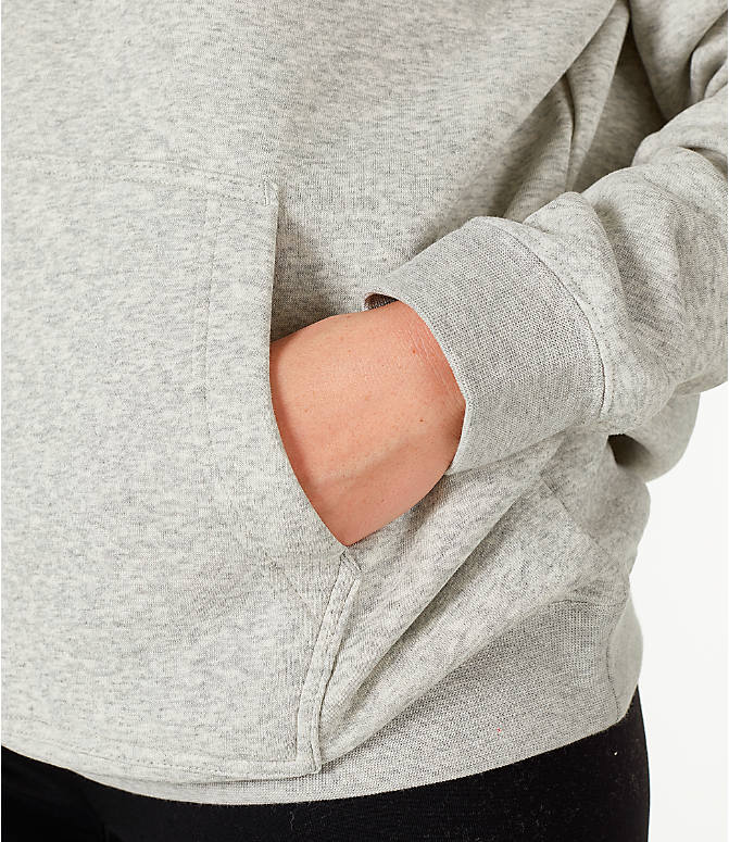 Detail 2 view of Women's Nike Sportswear Rally Hoodie in Grey/White