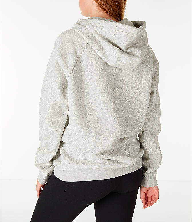 Back Left view of Women's Nike Sportswear Rally Hoodie in Grey/White