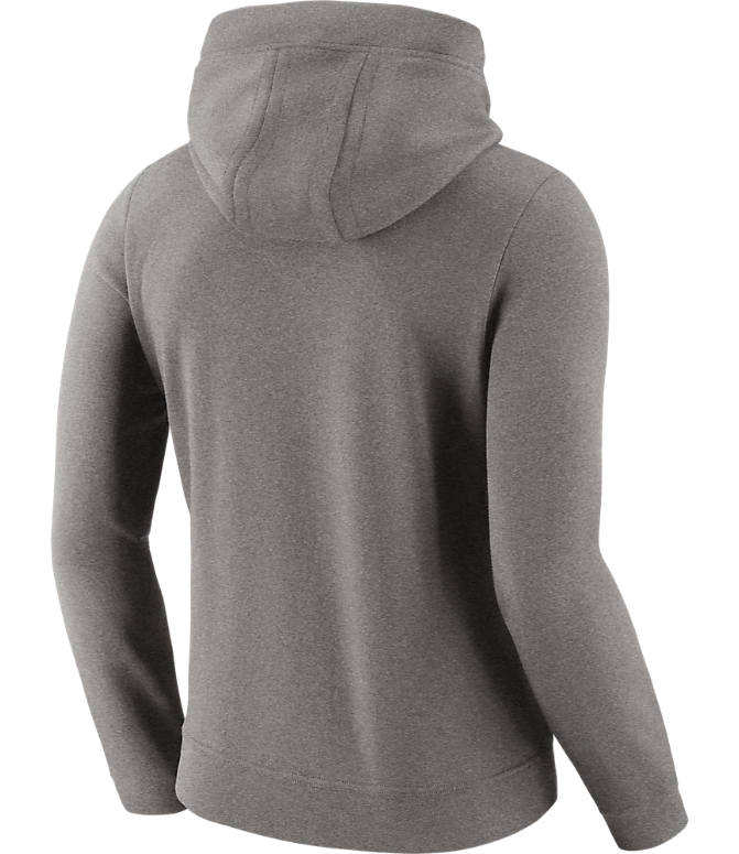 Back view of Women's Nike Golden State Warriors NBA Logo Hoodie in Dark Grey