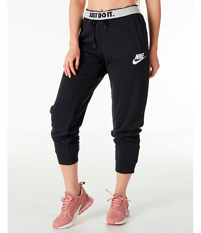 7d0f03f50b Front Three Quarter view of Women s Nike Sportswear Rally Jogger Pants in  Black Black