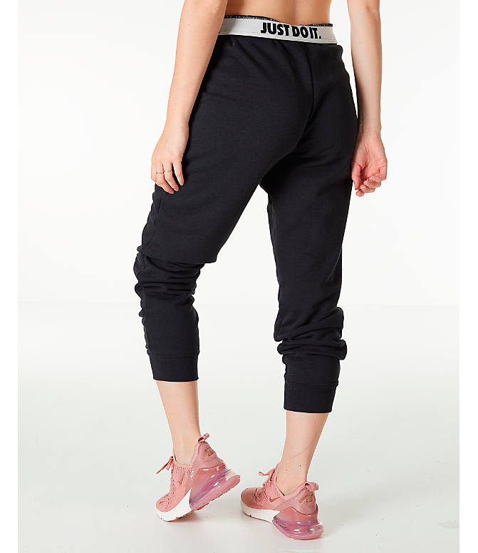 05ccdeb84928 Back Left view of Women s Nike Sportswear Rally Jogger Pants in Black Black  White