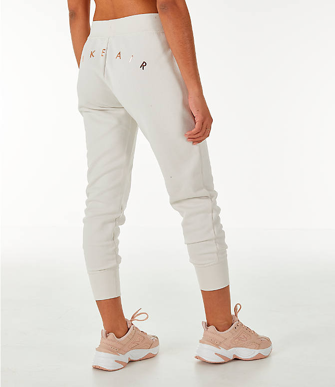 Back Right view of Women's Nike Sportswear Air Jogger Sweatpants in Phantom/Black
