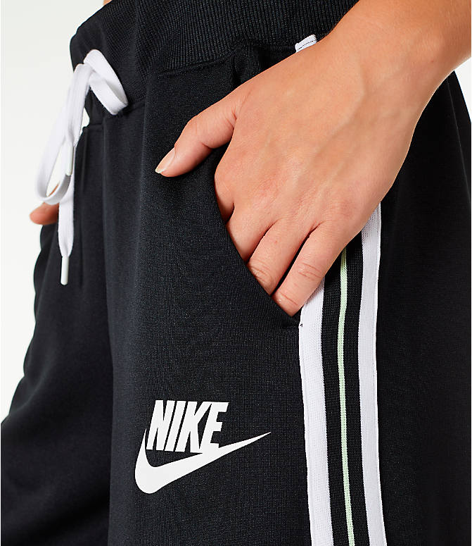 Detail 1 view of Women's Nike Sportswear Wide Leg Pants in Black/White