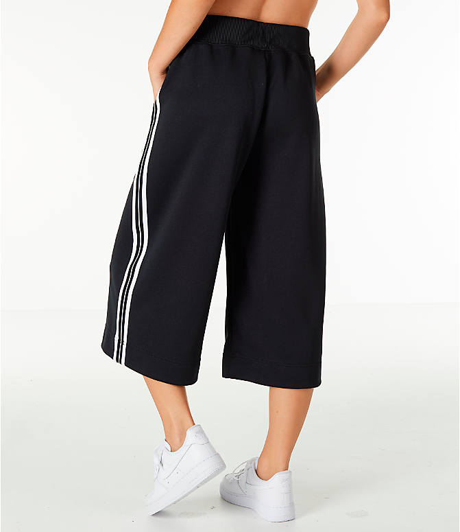 Back Left view of Women's Nike Sportswear Wide Leg Pants in Black/White