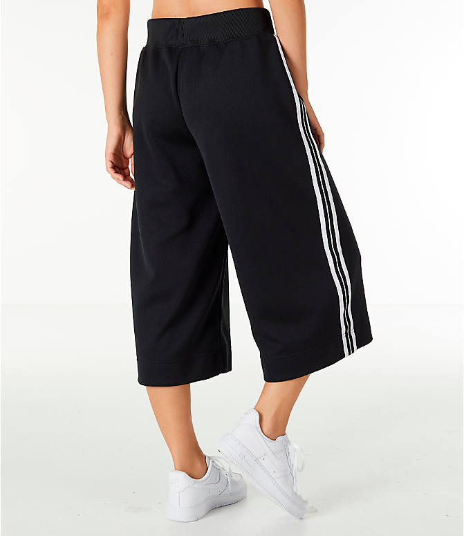 Back Right view of Women's Nike Sportswear Wide Leg Pants in Black/White