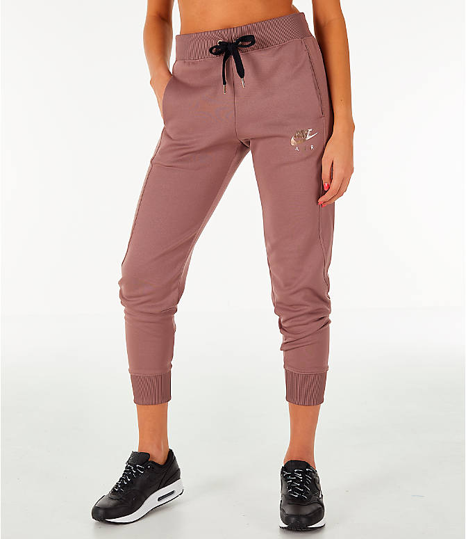 Front view of Women's Nike Sportswear Jogger Pants in Smokey Mauve/Rose Gold