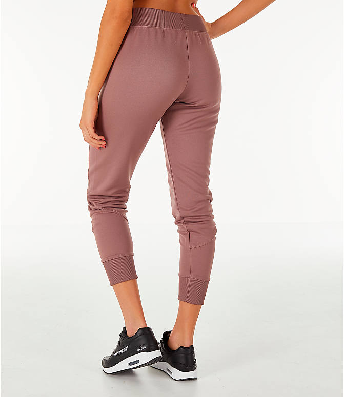 Back Left view of Women's Nike Sportswear Jogger Pants in Smokey Mauve/Rose Gold