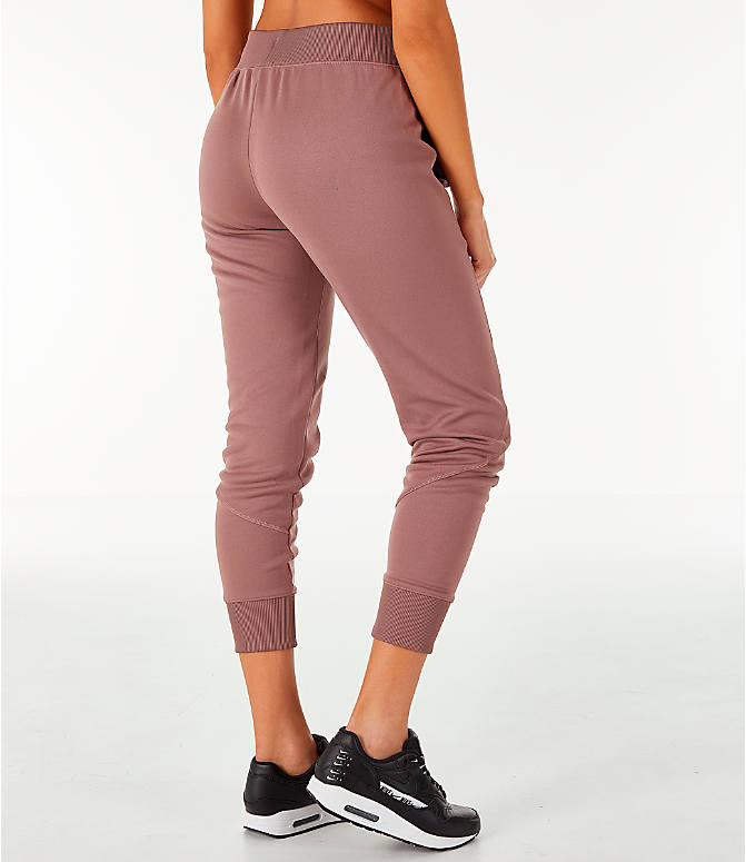 Back Right view of Women's Nike Sportswear Jogger Pants in Smokey Mauve/Rose Gold