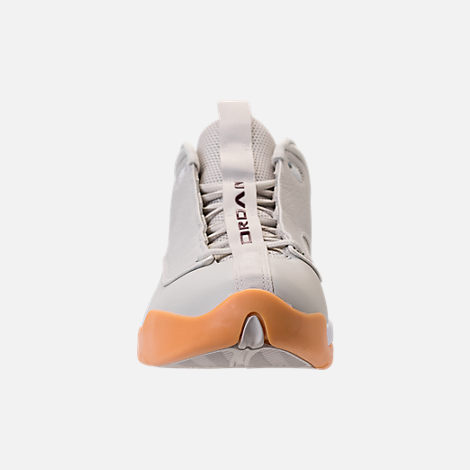 Front view of Men's Air Jordan Jumpman Pro Quick Basketball Shoes in Light Bone/White/Bordeaux/Gum Yellow