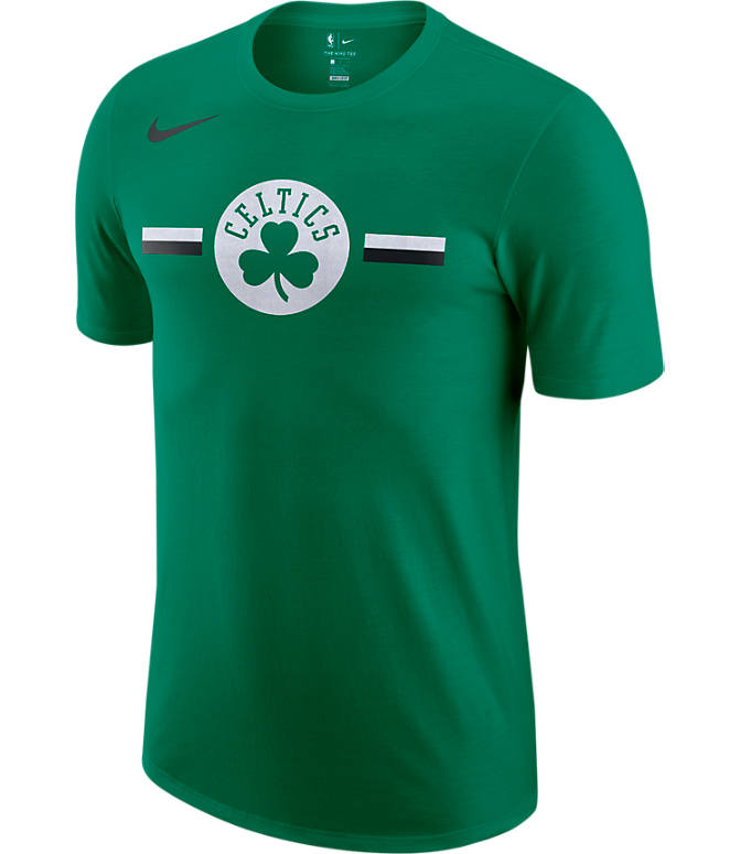 Front view of Men's Nike Boston Celtics Dri-FIT NBA Logo T-Shirt in Clover