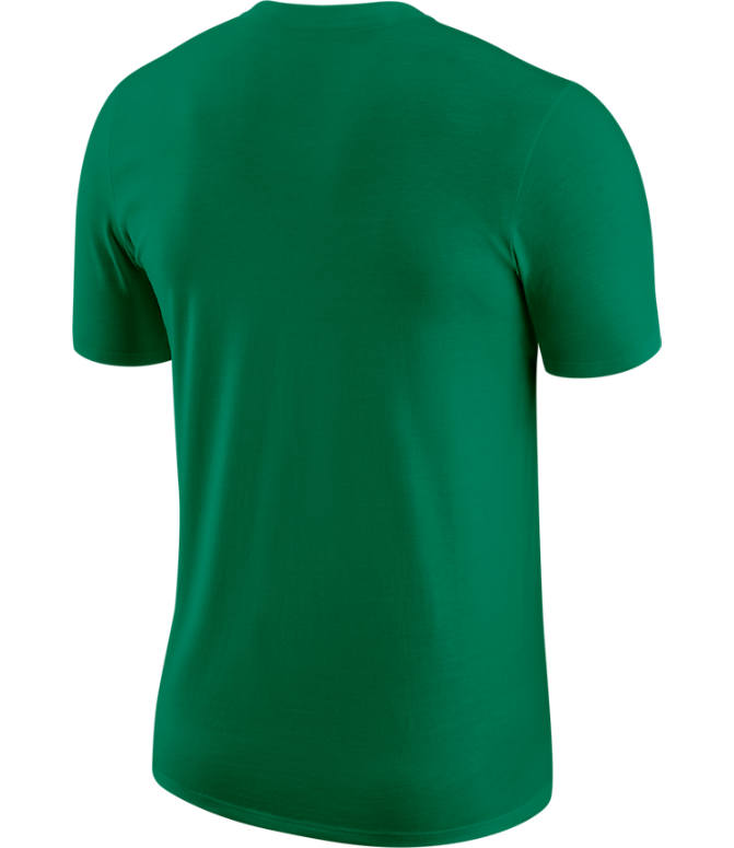 Back view of Men's Nike Boston Celtics Dri-FIT NBA Logo T-Shirt in Clover