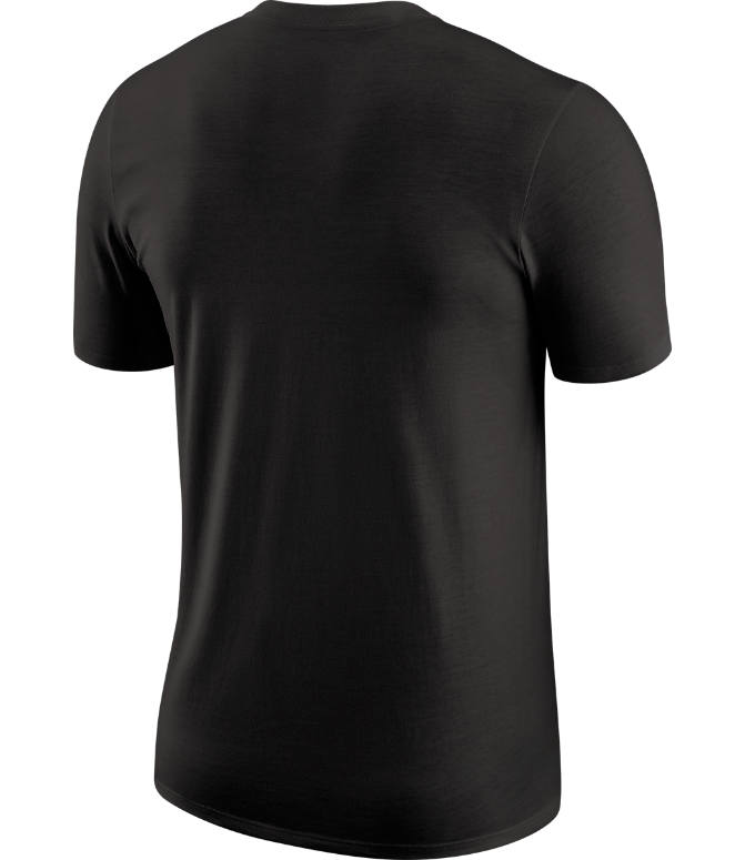 Back view of Men's Nike Cleveland Cavaliers Dri-FIT NBA Logo T-Shirt in Black