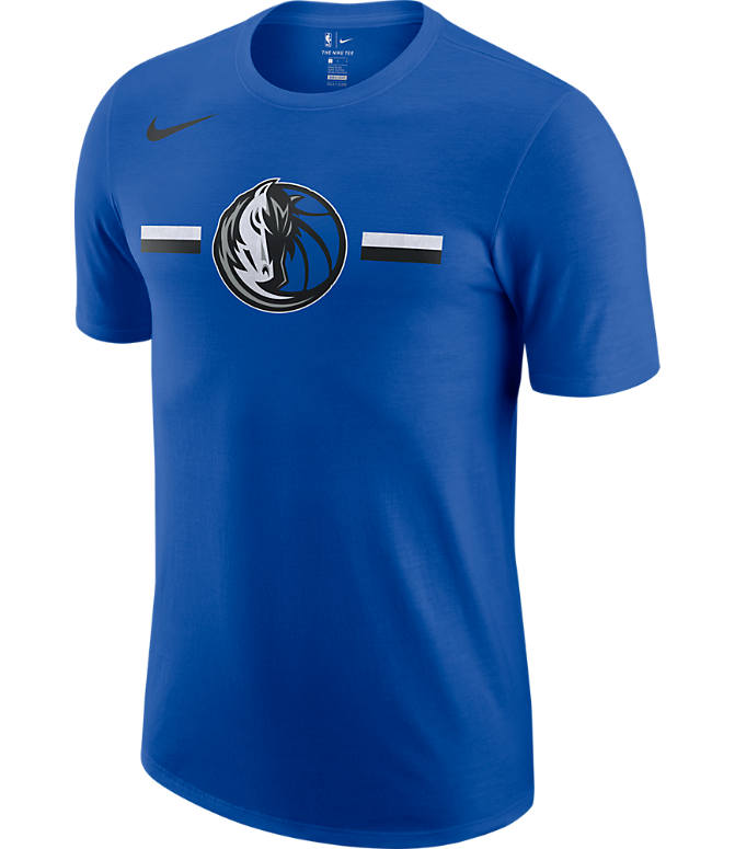 Front view of Men's Nike Dallas Mavericks Dri-FIT NBA Logo T-Shirt in Game Royal