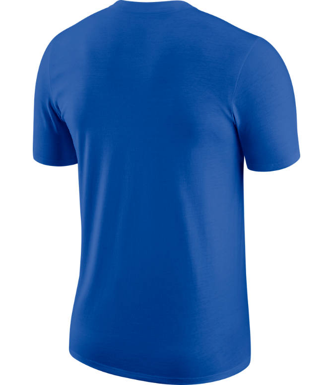 Back view of Men's Nike Dallas Mavericks Dri-FIT NBA Logo T-Shirt in Game Royal