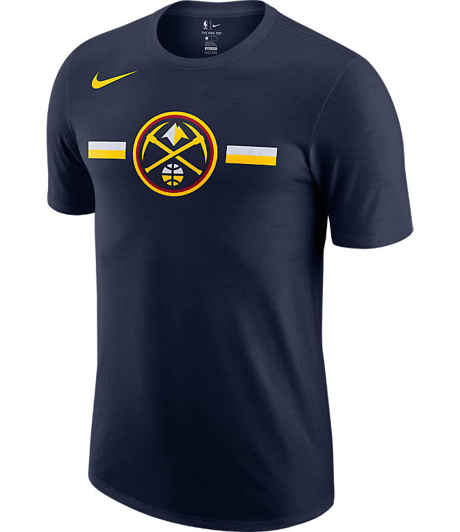 Front view of Men's Nike Denver Nuggets Dri-FIT NBA Logo T-Shirt in College Navy