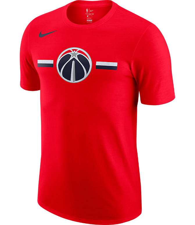 Front view of Men's Nike Washington Wizards Dri-FIT NBA Logo T-Shirt in University Red