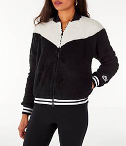 Women's Nike Sportswear Sherpa Wolf Bomber Jacket