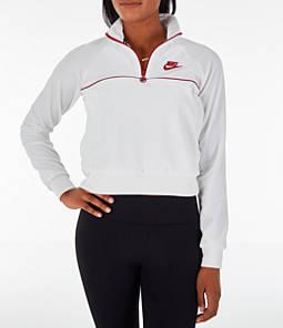 Women's Nike Sportswear Velour Quarter-Zip Top
