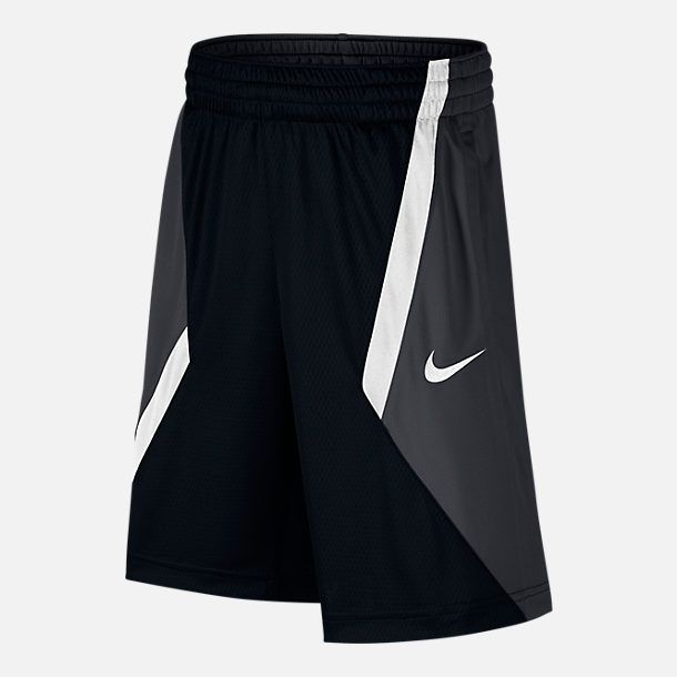 Front view of Boys' Nike Dry Avalanche Basketball Shorts in Black/White