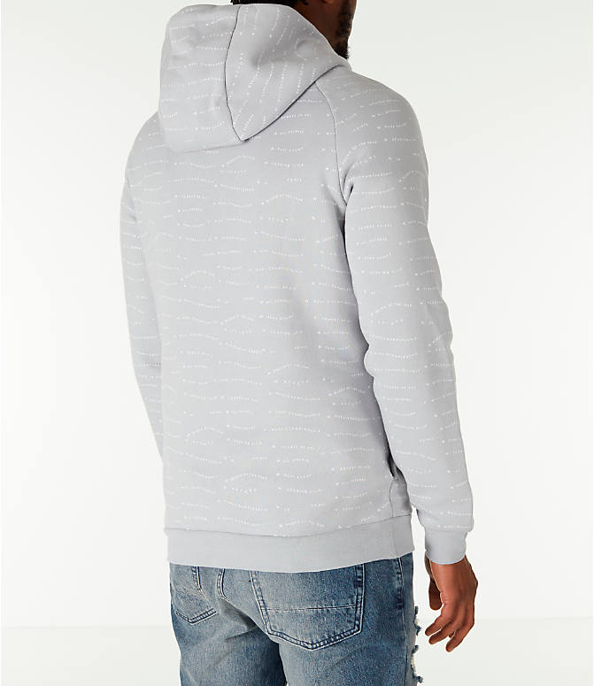 Back Right view of Men's Air Jordan 10 Jumpman Fleece Hoodie in Smoke Grey