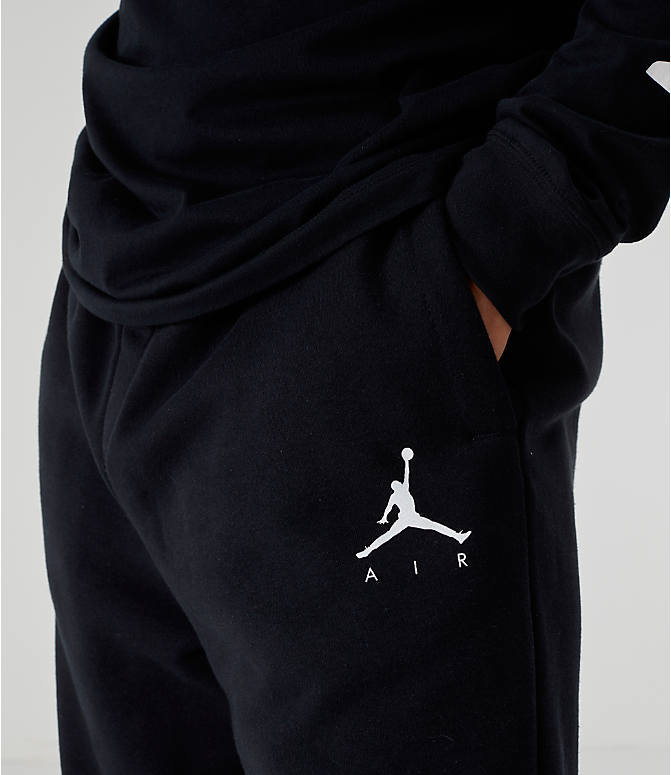 Detail 1 view of Men's Jordan Sportswear Jumpman Fleece Pants in Black