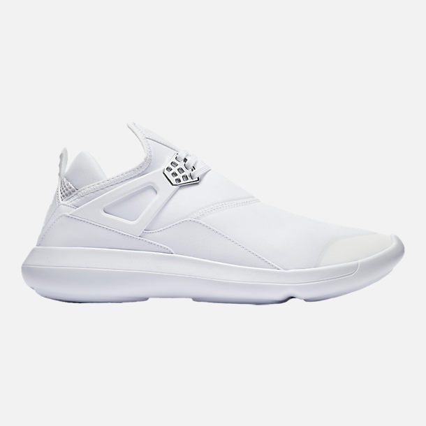 Right view of Men's Air Jordan Fly '89 Basketball Shoes in White/Chrome