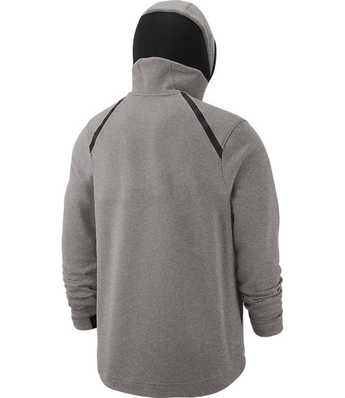 Product 4 view of Men's Nike Detroit Pistons NBA Dri-FIT Showtime Full-Zip Hoodie in Grey Heather